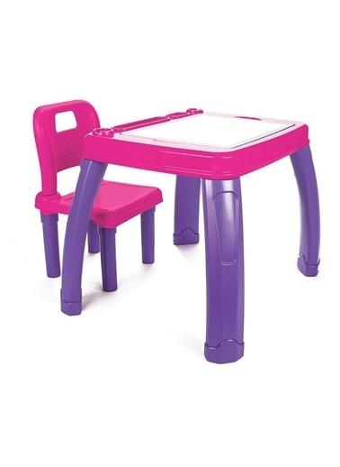 Pilsan Sandalyeli Çalışma Masası - Oyun ve Aktivite Masası -03-402 Mor